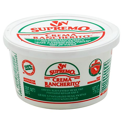 V&V Supremo Sour Cream Mexican Style, 7.76 Oz - 7.76 Oz