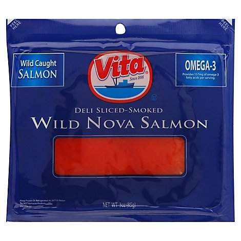 Vita Sliced Smoked Salmon - 3 Oz