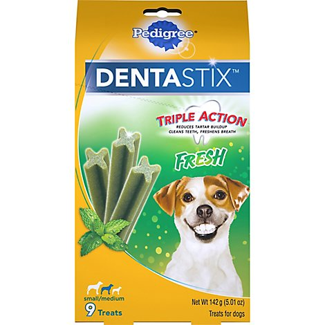 PEDIGREE DentaStix Dog Treats Fresh Medium Box 9 Count - 5 Oz