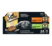 Sheba Cat Fd Roasted Chkn & Tender Turkey Vp - 24-1.32 Oz