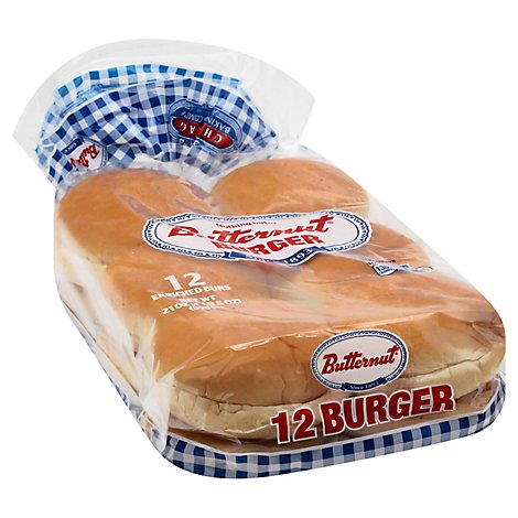 Butternut Hamburger Buns 12ct - 21 Oz