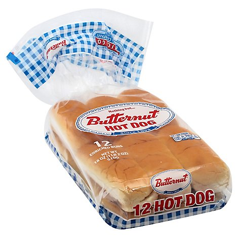 Butternut Hot Dog Buns - 18 Oz