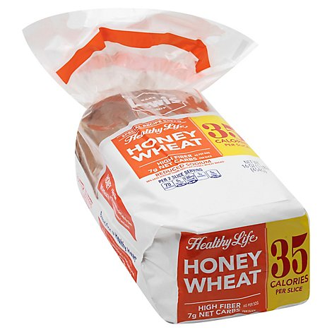 Healthy Life Bread Honey Wheat - 16 Oz