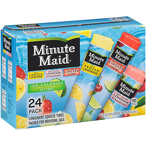 Minute Maid Squeeze Tubes Variety Pack - 24 Count
