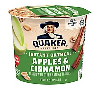 Quaker Oatmeal Apple Cinnamon Instant Express Cups - 1.51 Oz