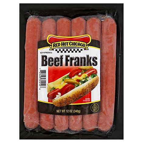 Red Hot Chicago Beef Franks - 12 Oz