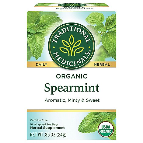 Trad Med Tea Spearmint - 16 Count