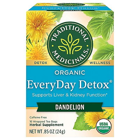 Traditional Medicinal Detox Teas Dandelion Wrapped Tea Bags, 16 Ct - 16 Count