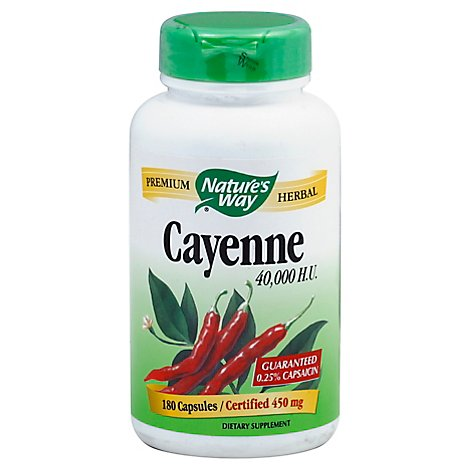 Natures Way Cayenne Pepper 40 - 180 Count
