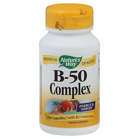 Natures Way Vitamin B 50 Complex - 100 Count