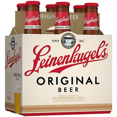 Leinenkugels Original Ale Beer Bottles 4.7% ABV - 6-12 Fl. Oz.