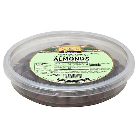 Earthly Delights Dark Chocolate Almonds - 12 Oz