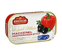 King Oscar Royal Fillets Mackerel Skinless & Boneless Mediterranean Style Can - 4.5 Oz