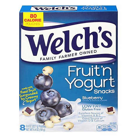Welchs Snacks Fruit & Yogurt Blueberry- 8 Count
