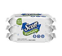 Scott Flushable Cleansing Cloth - 153 Count