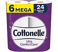 Cottonelle ComfortCare Bathroom Tissue Mega Roll 284 2-Ply Sheets Wrapper - 6 Roll
