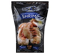 waterfront BISTRO Shrimp Raw Ez Peel Shell & Tail On Small 51 To 60 Count - 32 Oz
