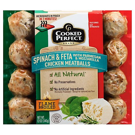 Cp Spinach And Feta Chickn Meatballs - 12 Oz