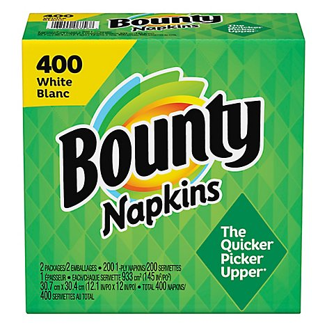 Bounty Whtie Napkins - 400 Count