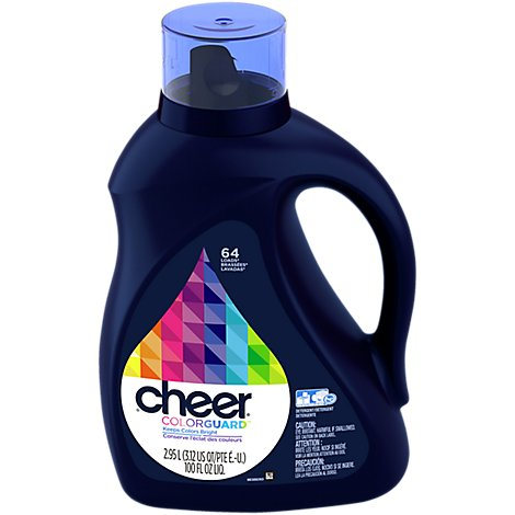 Cheer Laundry Detergent Liquid 64 Loads - 100 Fl. Oz.