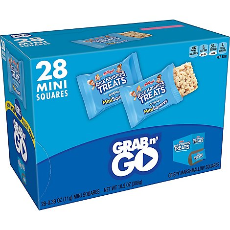 Rice Krispies Treats Mini-Squares Crispy Marshmallow Squares Original Grab N Go - 11.2 Oz
