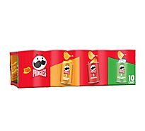 Pringles Potato Crisps Chips Flavored Variety Pack Grab N Go 10 Count - 13.7 Oz