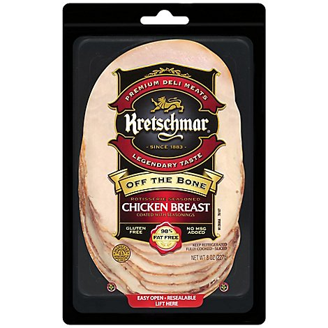 Kretschmar Pre-Sliced Chicken Breast Off The Bone - 8 Oz