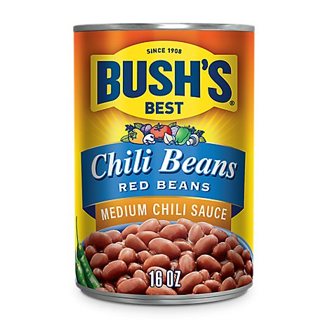 BUSHS BEST Beans Red Medium Chili Sauce - 16 Oz