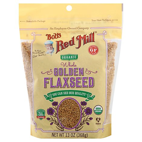 Bobs Red Mill Organic Flaxseed Golden Whole Gluten Free - 13 Oz