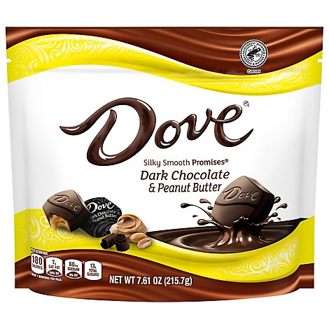Dove Promises Peanut Butter And Dark Chocolate Candy 7.61 Oz