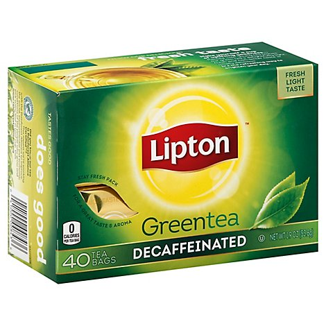 Lipton Green Tea Decaf - 40 Count