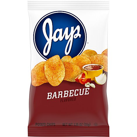 Jays Barbeque Potato Chips - 1.25 Oz