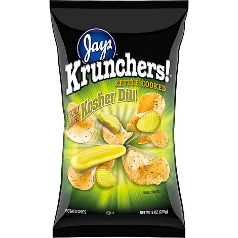 Krunchers Kosher Dill Chips - 8 Oz