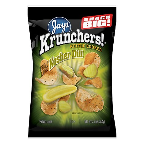 Krunchers Kosher Dill Chips - 2.5 Oz