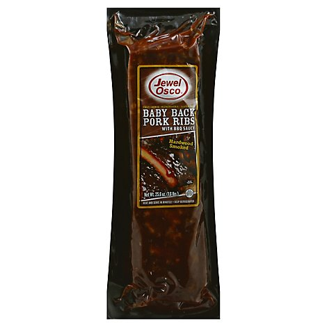 Jewel Cooked Smoked Pork Backribs With Sauce - 25.6 Oz