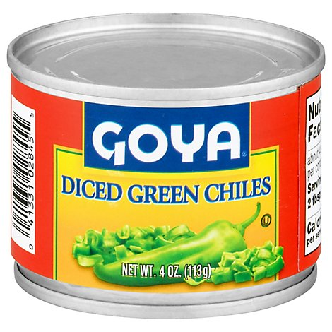 Goya Fire Roasted Diced Green Chiles, 4 Oz - 4 Oz