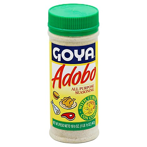 Goya Powder Seasoning Adobo Con Comino - 16.5 Oz
