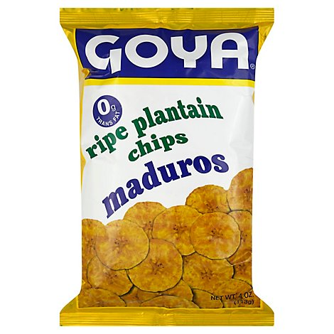 Goya Dried Plantian Chips Shelf Stabel Resealable Plastic Bag - 4 Oz