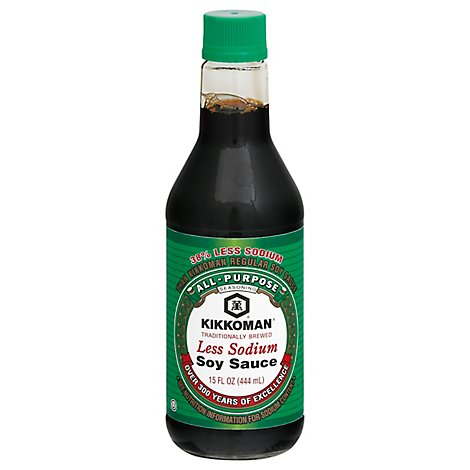 Kikkoman Soy Sauce Less Sodium - 15 Oz