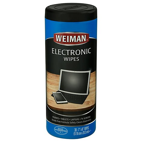 Weiman Etronic Wipes - 30 Count