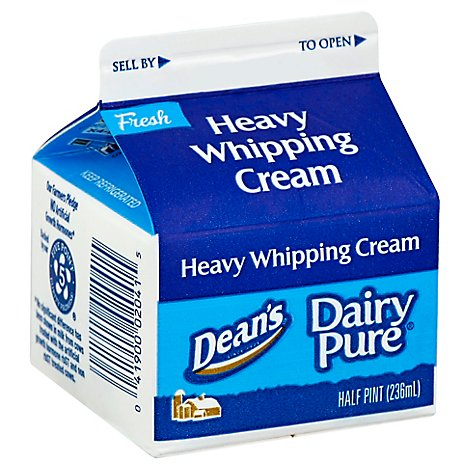Deans Dairy Pure 36% Heavy Whpping Cream - 8 Oz