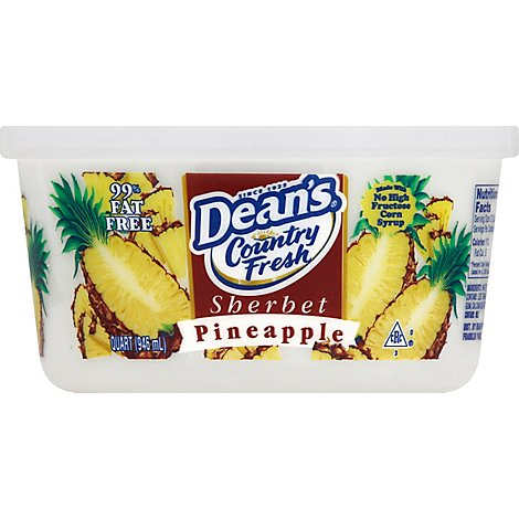 Deans Pineapple Sherbert - 32 Oz