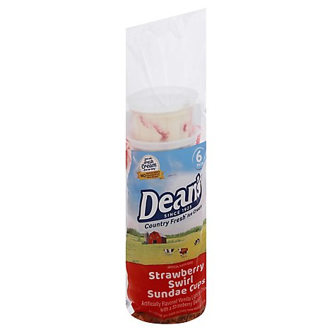 Deans Country Fresh Sundae Cups - 6 Count