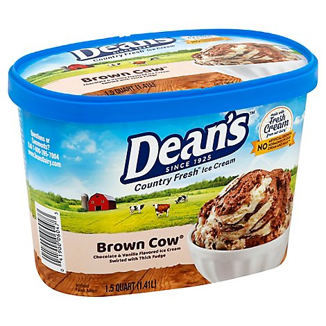 Deans Country Fresh Brown Cow Ice Cream - 48 Oz