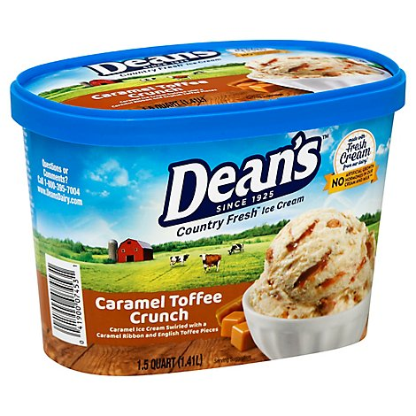 Deans Country Fresh Caramel Toffee Ice Cream - 48 Oz
