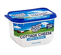 Deans Country Fresh Cottage Cheese Low Fat 1% Milk Fat - 24 Oz