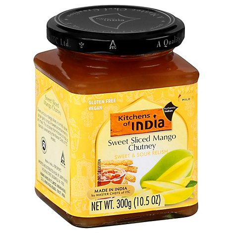 Kitchens Of India Sweet Sliced Mango Chutney - 10.5 Oz