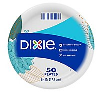Dixie Everyday Paper Plates Printed 6 7/8 Inch - 50 Count