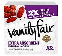 Vanity Fair Everyday Casual Napkins White Paper 2 Ply - 80 Count