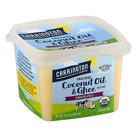 Carrington Farms Coconut Oil & Ghee Blend Organic - 12 Fl. Oz.